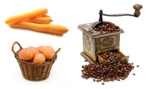 La carotte l'oeuf et le café