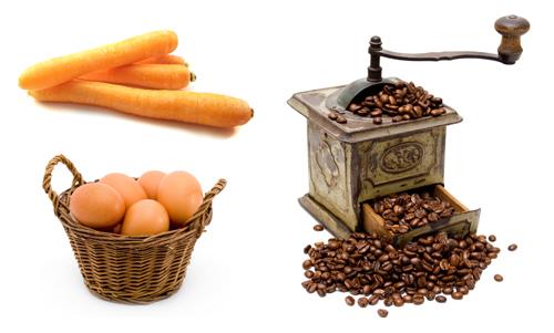 La carotte, l'oeuf et le café …