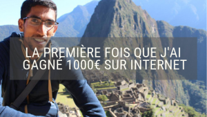 Gagner 1000€ sur internet