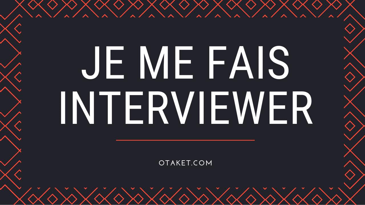 Je me fais interviewr par Jérémy Kohlmann