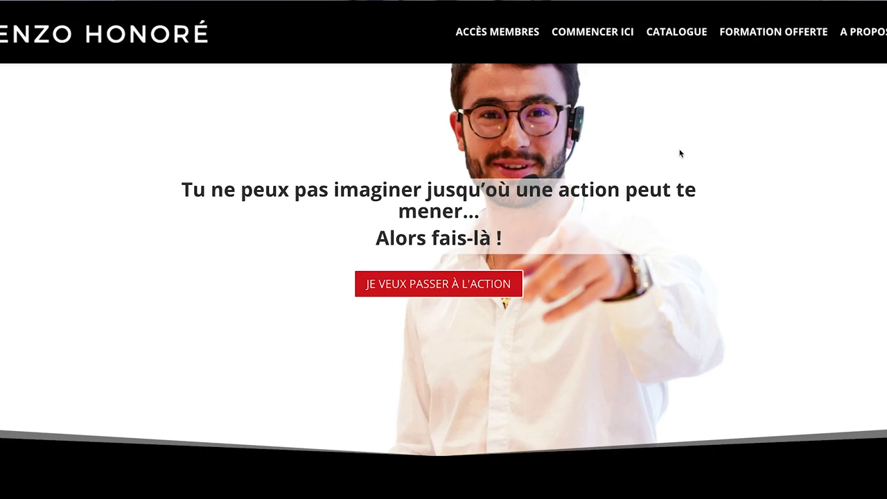 Page Accueil Enzo Honore