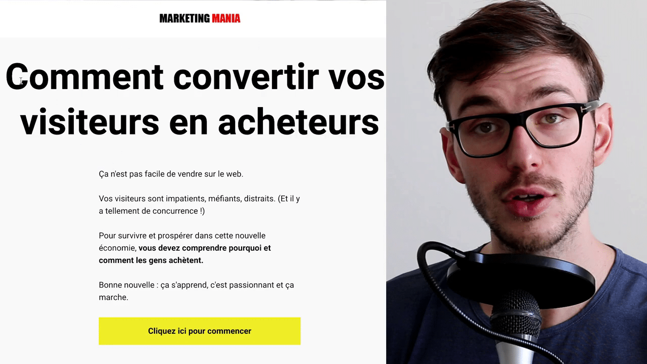 Page Accueil Marketing Mania
