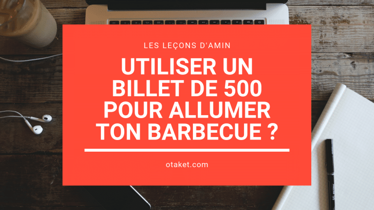 Utiliser un billet de 500 pour allumer ton barbecue ?