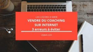 vendre du coaching sur internet