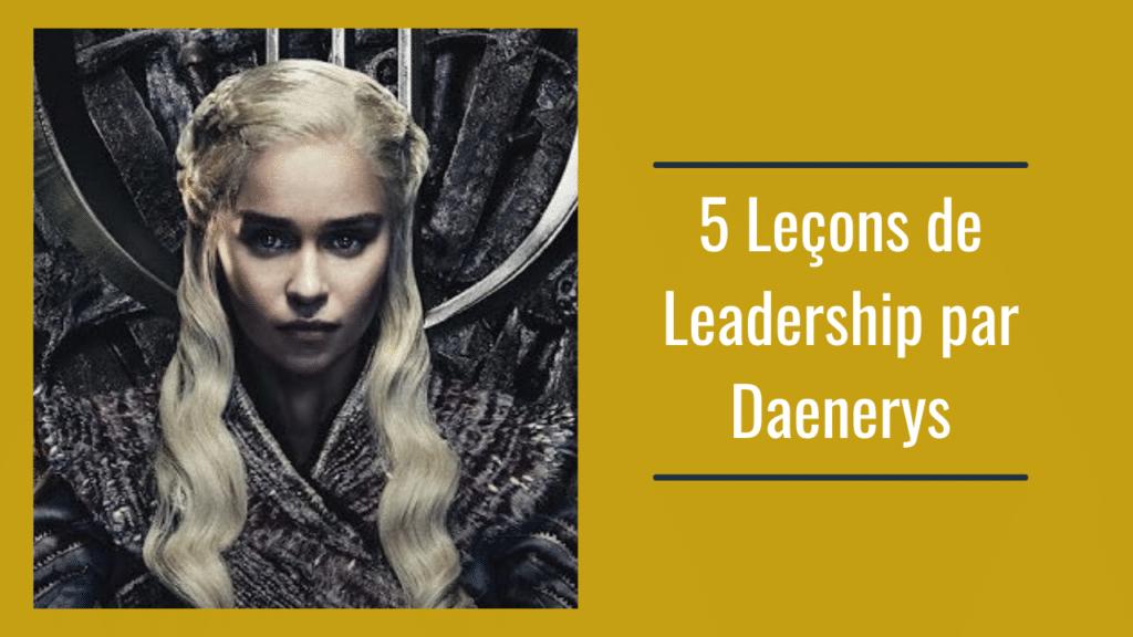 leçons de leadership