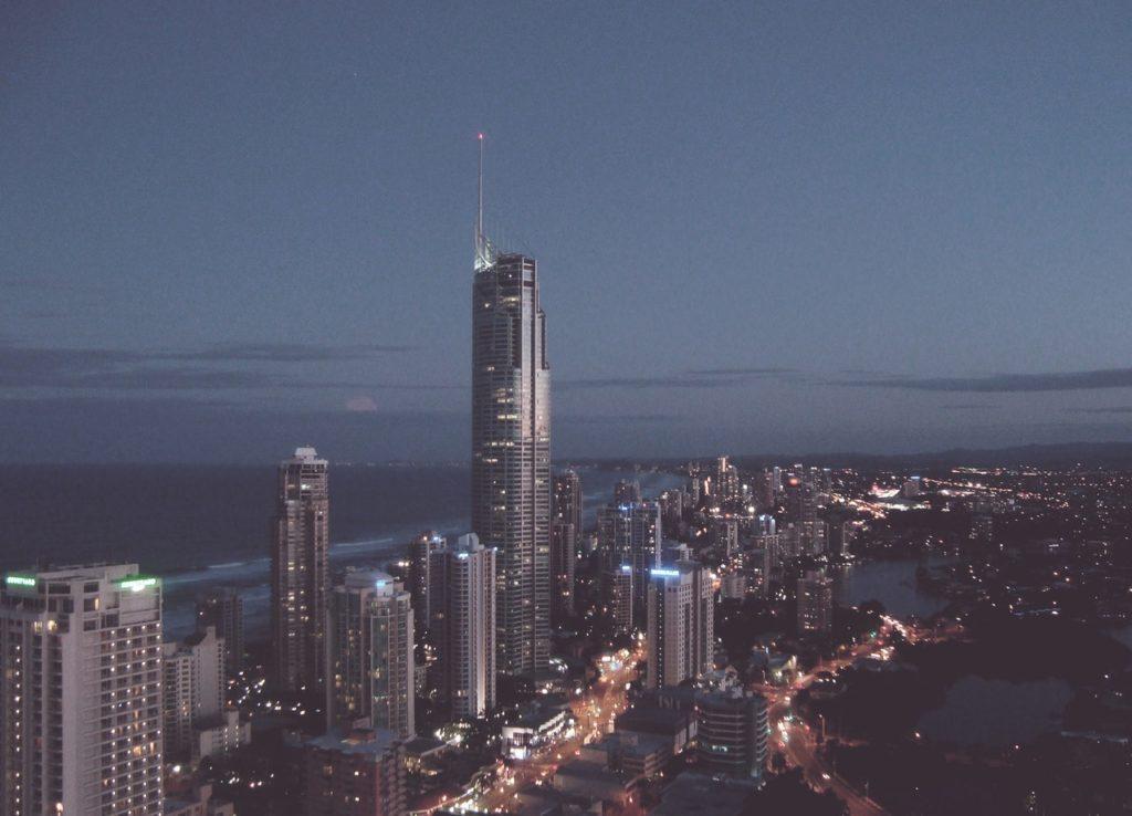 banque pour les sociétés et les entrepreneur, skyline de nuits