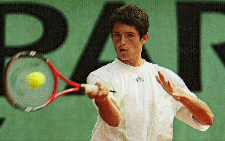 Julien Musy quand il était jeune tennisman, avant le business Mental d'Acier